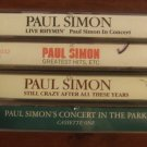 PAUL SIMON CASSETTE TAPE LOT (4) CONCERT IN THE PARK & MORE