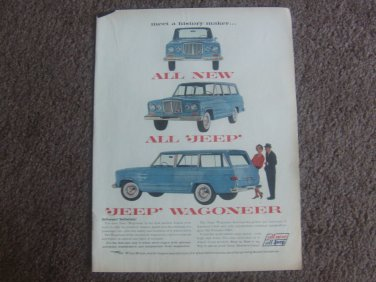 1962 VINTAGE AD INTRODUCING JEEP WAGONEER