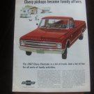 1967 Ad Chevrolet Fleetside Pickup Truck - Family Affairs - VINTAGE ADVERTISEMENT