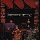 CROWN ROYAL Whisky - Christmas Stockings - Fireplace - VINTAGE AD