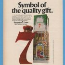 """Seagram's 7 Crown Whiskey """"Symbol of a Quality Gift"""" Christmas."""