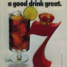 Seagram's Seven 7 Crown Whiskey print ad / magazine advertisement