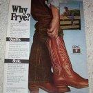 1981 advertising - Frye mens Cowboy western Boots