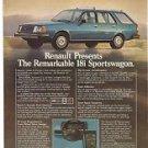 Classic 1981 Advertisement - Renault 18i Sportswagon