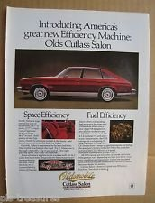 1978 MAGAZINE AD OLDS CUTLASS SALON AUTOMOBILE
