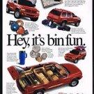 1998 Red Dodge Durango SUV Truck It's Bin Fun Print Ad