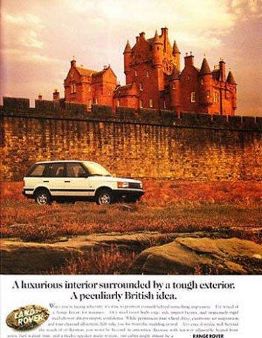LAND RANGE ROVER automobile magazine print advertisement