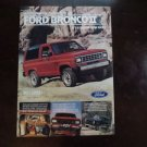 1983 Ford Bronco II SUV truck ad advertisement