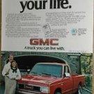 1984 GMC advertisement page, GMC S-15 4X4 Pickup