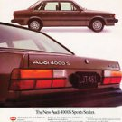 1983 Audi 4000 4000S Sport Sedan - Classic Vintage Advertisement Ad