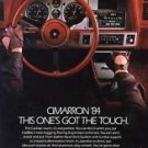 """1984 Cadillac Cimarron Ad Dashboard View """"This one's got the touch"""""""