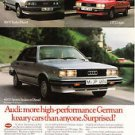 1983 Audi 4000 Sports Sedan GT Coupe Magazine Print Ad