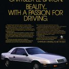 1988 Chrysler LeBaron Coupe - Classic Vintage Car Advertisement Ad
