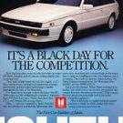 ISUZU Impulse Turbo RS ad 1987 magazine advertisement Black Day