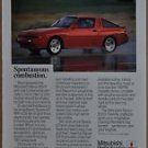 1987 MITSUBISHI STARION advertisement, Mitsubishi Starion ESI-R