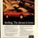 Sterling 825S 1987 Vintage Advertisement ad