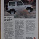 1987 MITSUBISHI MONTERO advertisement, Mitsubishi Montero 4x4 off-road
