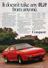 1987 Chrysler Conquest it Vintage Advertisement Ad