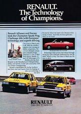 1985 Renault Alliance Race Classic Advertisement Ad