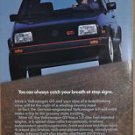 1987 VOLKSWAGEN GTI advertisement, VW GTI, black with red trim