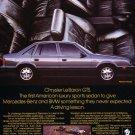 1987 Chrysler LeBaron GTS profile - Classic Car Advertisement Print Ad
