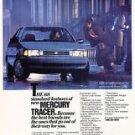 1986 Mercury Tracer - Rain - Classic Vintage Advertisement Ad