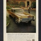 1968 CADILLAC 2 DOOR GOLD VINTAGE MAGAZINE CAR PRINT AD