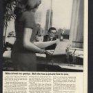 1968 ITT REACTIVE TERMINAL SERVICE RTS VINTAGE MAGAZINE PRINT ART AD