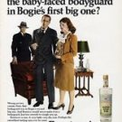 """1968 Ronrico """"A Rum To Remember"""" Clever Bogie's First Big One Original Ad"""