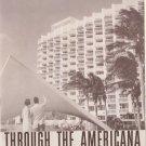 Through the American Hotel Miami Beach, Florida vintage adveritsing