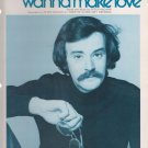 Vintage Sheet Music 1977 Do You Wanna Make Love Peter McCann