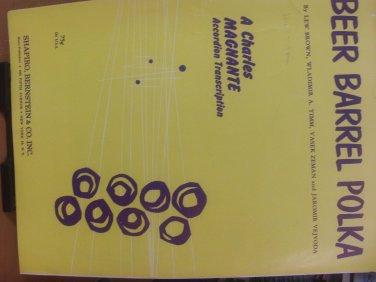Beer Barrel Polka Accordion Sheet Music _vintage