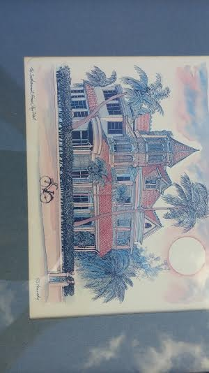 "The Southernmost House Print, Key West R E Kennedy 6"" x 8"" Artwork Reproduction"