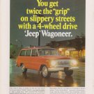 Vintage Original Magazine Ad JEEP Wagoneer - Twice the GRIP