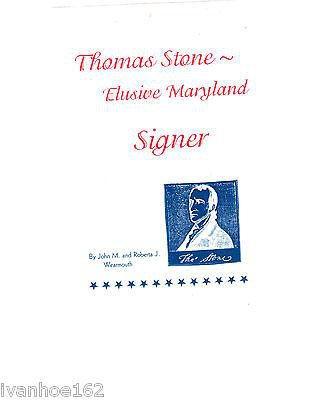 Thomas Stone: Elusive Maryland Signer 1984
