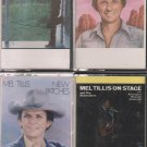 MEL TILLIS CASSETTE LOT (4) LIVE-PATCHES-NEW PATCHES-SOUTHERN RAIN