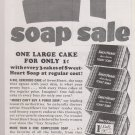 Sweetheart Toilet Soap Vintage AD