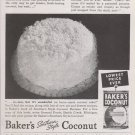 Baker's Coconut Vintage Magazine Advertisement