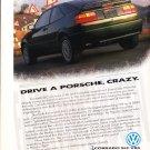 1992 VW Volkswagen Corrado SLC VR6 - Original Advertisement Car Print Ad