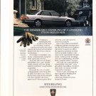 1990 Sterling 827Si Sedan Original Magazine Advertisement