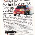 1991 Suzuki Swift GT - fast lane - Classic Vintage Advertisement