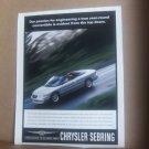Vintage Chrysler Sebring Magazine Advertisement