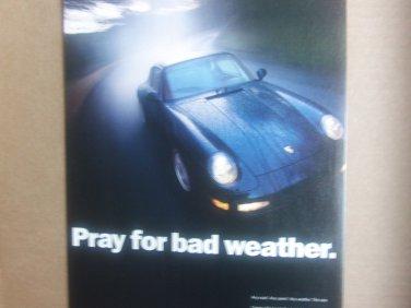 Vintage Porsche Magazine Advertisement