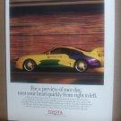 Toyota Motor Sports Vintage Magazine Advertisement