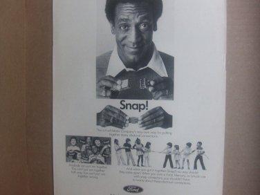Vintage Ford Magazine Advertisement (Bill Cosby)
