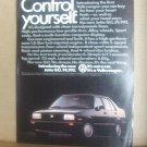 "Volkswagen ""Control Yourself"" vintage Magazine Advertisement"