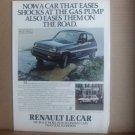 Vintage Renault Le Car Magazine Advertisement