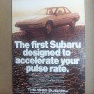 1985 Subaru Vintage Magazine Advertisement