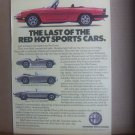 Vintage Alfa Romero Sports Car Magazine Advertisement