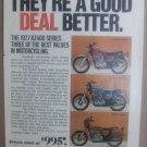 Vintage Kawasaki Motorcycle Magazine Advertisement